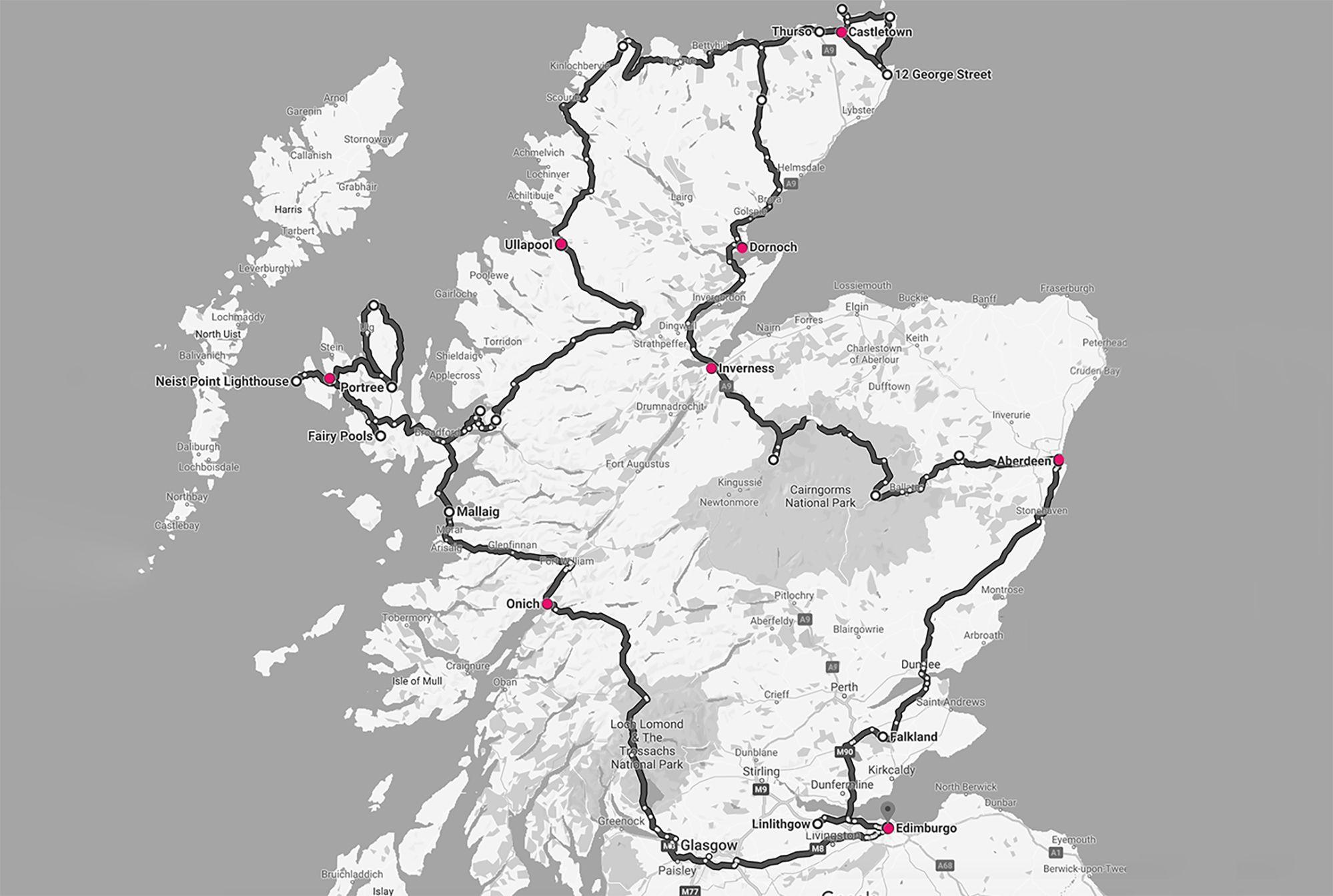 plano viaje escocia