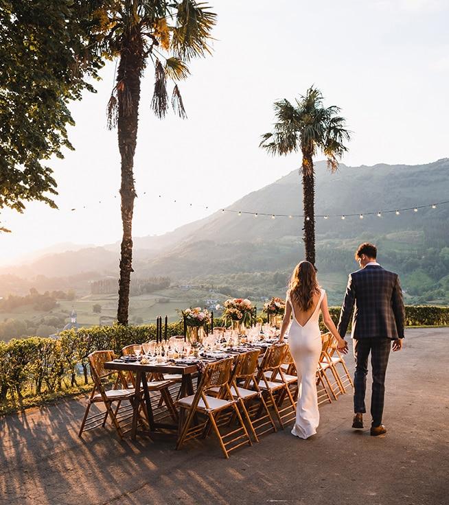 fotografia de boda al atardecer